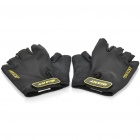 GIANT Cycling Anti-Slip High Elasticity Half-Finger Gloves - Black (Size-M / Pair)
