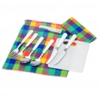 Picnic Tools Set with Carrying Bag for 2 People (Silver + White)