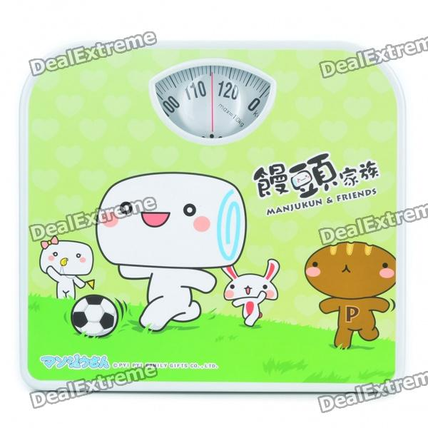 Mechanical Body Weight Bathroom Scale - Green