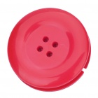 Cute Button Style Plastic Earphone Cable Winder/Organizer with Clip - Deep Red