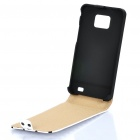 Protective Leather Cover Plastic Case for Samsung i9100 - White + Black