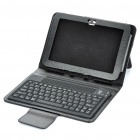 "Bluetooth 3.0 76-Key QWERTY Keyboard with Folding Leather Case for Samsung 8.9"" Tablet - Black"