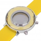 Stylish Mirror Display Digital 29-LED Wrist Watch - Yellow (1 x 2025)