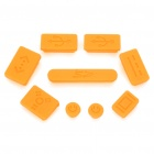 Data Jack Anti-Dust Kits Set for Apple Macbook Air / Pro - Yellow (9 pieces set)