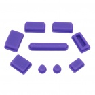 Data Jack Anti-Dust Kits Set for Apple Macbook Air / Pro - Purple (9 pieces set)