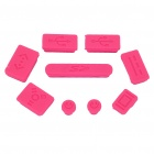Data Jack Anti-Dust Kits Set for Apple Macbook Air / Pro - Pink (9 pieces set)