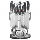 CT3029 Kitchen Cooking Utensils + Knife Tools Set (Set of 10)