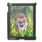Unique Vivid 3D Tiger Pattern Protective PC Back Case for iPad 2
