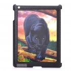 Unique Vivid 3D Black Panther Pattern Protective PC Back Case for iPad 2