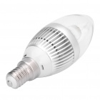 E14 3.3W 180LM 7000K Cold White Light 1-LED Oval Bulb (AC 100~240V)