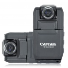 300KP Wide Angle Car DVR Camcorder w/ TF Slot / Dual LED light - Black (2.0