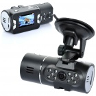 "HD720 CMOS Dual Lens Wide Angle Car DVR Camcorder w/ IR Night Vision/ TF Slot/ Player (2.0"" TFT LCD)"