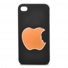 Remembering Steve Jobs Protective Plastic Back Case for iPhone 4 / 4S - Black + Golden