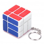 Mini Bicube Plastic Magic IQ Cube with Keychain
