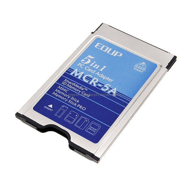 EDUP MCR-5A PCMCIA 5 in 1 kortinlukija laptop (SD/SM/MMC/MS/MS Pro)