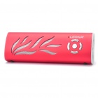 Sports USB aufladbare MP3-Player Speaker w / FM / 3,5 mm Klinke / USB / TF Slot - Red