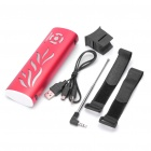 Sports USB Rechargeable MP3 Player Speaker w/ FM / 3.5mm Jack / USB / TF Slot - Red