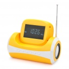 "2,7 ""Spiegel LCD Portable Kann Stil MP3-Player Speaker w / FM / SD / USB / 3,5 mm AUX - Yellow"