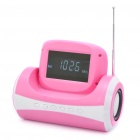 "2,7 ""Spiegel LCD Portable Kann Stil MP3-Player Speaker w / FM / SD / USB / 3,5 mm AUX - Pink"