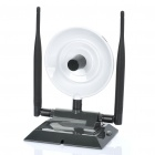 360000N+ Dual 38dBi Antenna 2.4 GHz 150Mbps 802.11b/g/n Wireless Network Dongle - White + Grey