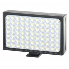 Rechargeable 2-Mode 5600k 77-LED White Light Video Lamp for Camcorder / Camera