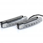 0.6W 9-LED White / Yellow Light Car Daytime Running Lamps (DC 12V / Pair)