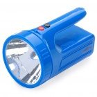 Hand-Crank / USB Rechargeable 15-LED / 1-LED Flashlight - Blue