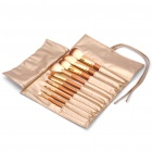 Portable Beauty Cosmetic Makeup Brush Set with Carrying Bag (10-Piece Pack)