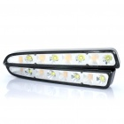 8W 8-LED White + Yellow Light Tagfahrlicht (9-28V/Pair)
