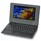 "7"" TFT LCD Windows CE 6.0 VIA8650 ARM11 Netbook with WiFi/RJ45/USB 2.0/SD Card Slot - Black"