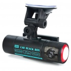 "CMOS 2MP Dual-Lens Car DVR Camcorder w/ GPS Module/4-LED IR Night Vision/AV-Out/TF (2.7"" LCD)"