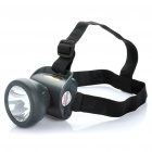 ZK1681 Rechargeable Water Resistant 2-Mode 1-LED White Light Headlamp - Black