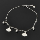 Stylish Fan / Ball Pendant 990 Sterling Silver Anklet (24cm-Length)