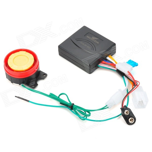 Professional Waterproof Anti-Theft Security Alarm System for Motorcycle - Black
