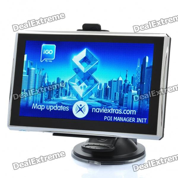 5.0 Touch Screen Win CE 6.0 Portable Car GPS Navigator w/ FM - US / Canada Map (4GB)Car GPS Navigators<br>Color:Black + silverCPU:MediaTek (MT3351 480MHz)Memory Capacity64MB RAM + Built-in 4GB flashBuilt-in Map:US / Canada mapExpansion SlotTF (Max.16GB)Display Size: 5Display Type: HD 16:9 resistive screen Screen Resolution: 800 x 480Touch Screen: YesOther Functions:E-book, built-in games, calendar, voice recording and so onVideo Formats: WMV, AVI, ASF, MPG, MOV, MP4Audio Formats: WMA9, MP3, WAVImages Formats: JPG, GIF, BMP, PNG, TIFE-book Formats:TXTControl Type:Touch screenData Transfer:USB2.0OS:Windows CE NET6.0 Updated: From now on (2012-8-07), built-in OS will upgrade from 5.0 to 6.0 Receiver Channel Number:20Interfaces:Mini USB + TF + 3.5mm earphone jackHeadphones Jack: 3.5mmBattery Type: Built-in 900mAh batteryLoudspeaker:8ohm, 1WFM Radio: YesTuner Bands: 88~108.0MHzLanguages: English, French, German, Italian, Portuguese, Russian, Spanish, Hungarian, Polish, Finnish, Slovenian, Turkish, Romanian, UkrainianAccessories:1 x Stylus1 x Car windshield / dashboard mount kit1 x Back clip1 x 12~24V Car charger (110cm)1 x 100~240V AC Power Adapter (2-flat-pin plug, 91cm)1 x USB Cable (67cm)1 x 3.5 mm Earphone (84cm)1 x English user manual<br>
