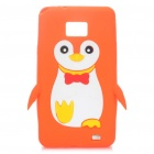 Creative Penguin Style Protective Silicone Case for Samsung i9100 - Orange