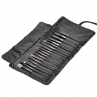 Professional 18pcs Cosmetic Make-up Brushes Set - Black