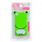 Cute Cartoon Frog Style Protective TPU Case with Screen Protector Guard for Iphone 4/4S - Green