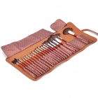 Luxurious 21pcs Cosmetic Make-up Brushes Set - Brown