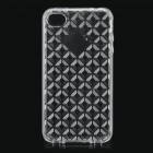 Diamond Pattern Protective TPU Case for iPhone 4/4S - Transparent White
