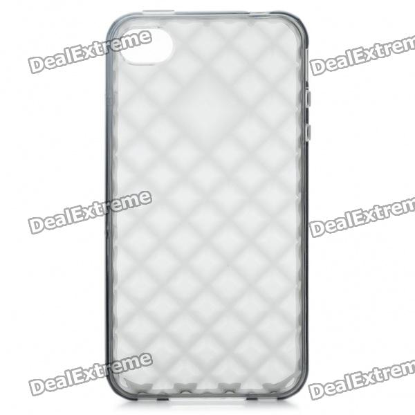 Protective Diamond Pattern TPU Case for Iphone 4/4S - Grey protective diamond pattern tpu case for iphone 4 4s grey
