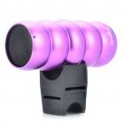 Outdoor Sports Portable Rechargeable MP3 Music Speaker with TF Slot - Purple