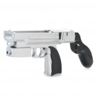 2-in-1 Game Shooting Gun with Motion Plus Function for Wii Remote - Silver + Black
