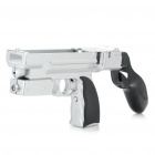5-in-1 Laser Gun for Wii Remote - Silver + Black