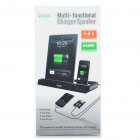 Multi-Function Docking Station Charger Speaker for iPhone 3G / 4 / 4S / iPad / iPad 2 (Black)