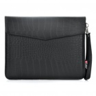 Protective Crocodile Grain Pattern PU Leather Case Bag for iPad 2 - Black