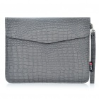Protection Crocodile Pattern PU cuir cas sac de Grain pour Ipad 2 - gris