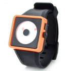Cool Simple Point Pointers Rubber Band Wrist Watch - Black + Orange (1 x 377S)