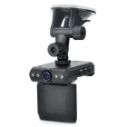 2.4&quot; TFT 3.0MP Wide Angle Car DVR with 4X Digital Zoom / 4-LED Illumination Light / TV-Out / SD