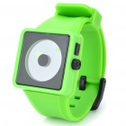 Cool Simple Point Pointers Rubber Band Wrist Watch - Light Green + Black (1 x 377S)